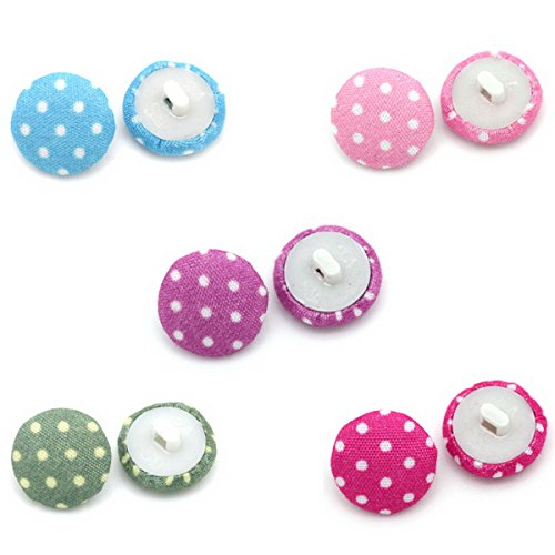 - HOUSWEETY 200PCs Acrylic Buttons Sewing Fabric Covered Round Mixed 14mm(4/8