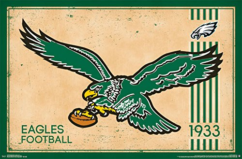 "Trends International Philadelphia Eagles Retro Logo Wall Poster 22.375"" X 34"""