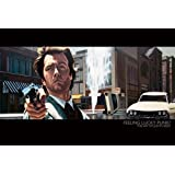 Justin Reed Dirty Harry Movie Pop Art Poster 24 x 36 inches