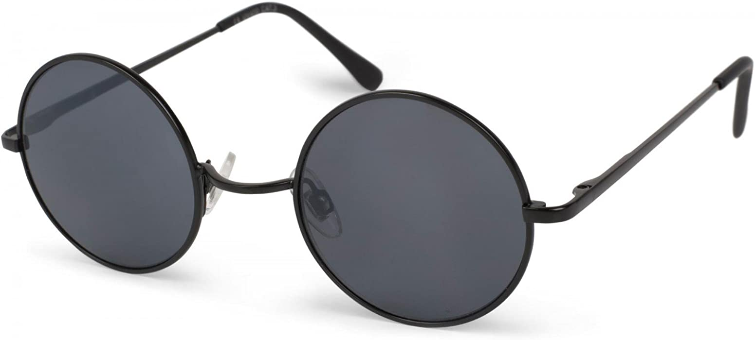 76719785fa styleBREAKER sunglasses with round lenses and narrow metal frame ...