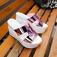 Sandalias mujer confort perezoso Charol botas Casual Confort