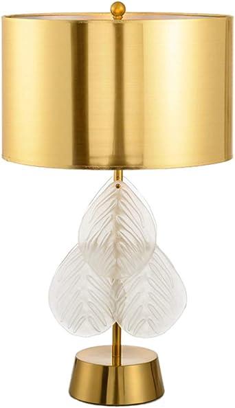 Cristal creativo Cristal Hojas Lámpara de escritorio Lámparas de ...