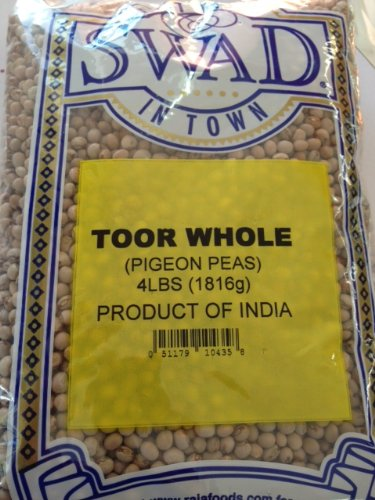 Swad Toor (Pigeon Peas) Whole 4lb by Swad