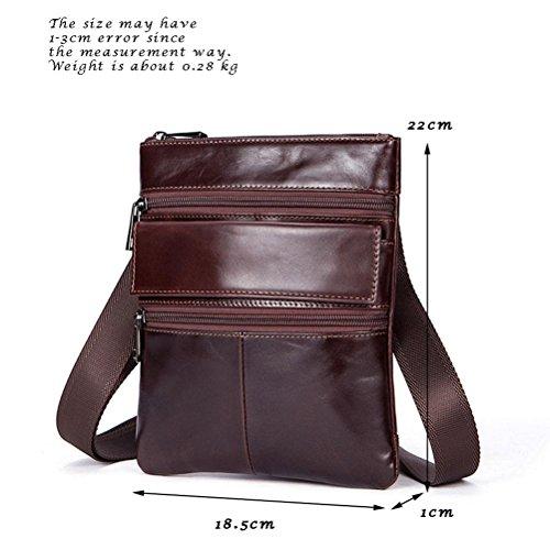 Bag Gtuko High Zipper Shoulder Bag Shoulder Bag Quality Coffee Coffee Business Leather 7901 Genuine Men grRPrtEn