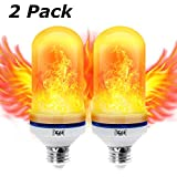 [Upgrade] Yeahbeer LED Flame Effect Light Bulb, Simulated Decorative Christmas Lights Atmosphere Lighting Fire Bulbs Vintage Emulation Flaming for Bar/Festival Decoration (2 Pack)