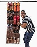 Mirella's House LARGE SHOE ORGANIZER Door Shoe Rack, Sneaker Rack, Men's Shoe Organizer for Big Shoes to Neaten Up Your Closet and as an Entryway Organizer (Bison Brown)