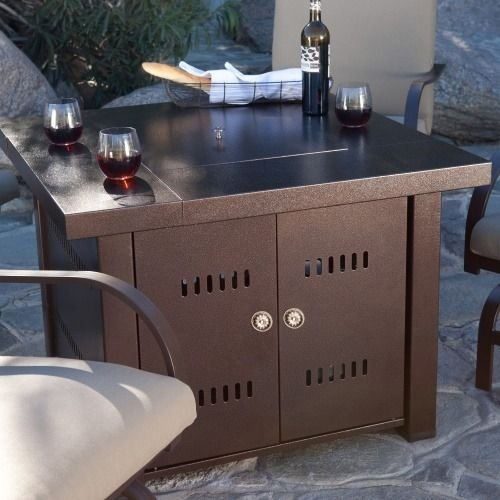 XtremepowerUS Outdoor Patio Heaters LPG Propane Fire Pit Table Garden Backyard Firepit Tabletop (Bronze) (Heater List Parts Patio)