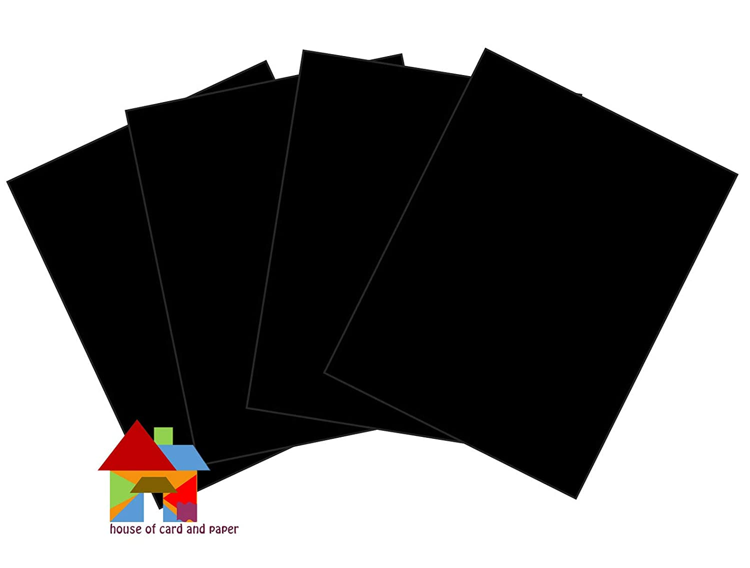 Black Pack of 25 Sheets House of Card /& Paper A3 220 gsm Card