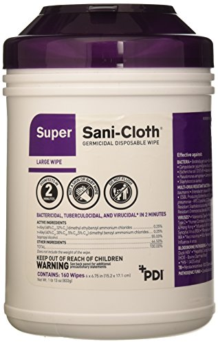 - PT-Q55172 PT# Q55172- Disinfectant Wipes Alcohol Sani-Cloth Super Lg 6x6-3/4