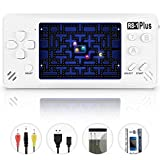 Handheld Game Console for Kids Adults, JJFUN RS-1 PLUS Portable Classic Game Consoles Built in 218 Games 3.5 Inch 1 USB Charge Retro Arcade Video Game Player,Birthday Presents for Children-Pearl White