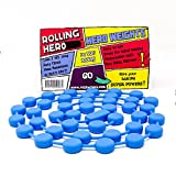 ROLLING HERO Silicone Pie Weights - Chain of Baking Beads or Beans for Blind Baking Pastry Shells or Pie Crusts (1, Blue)