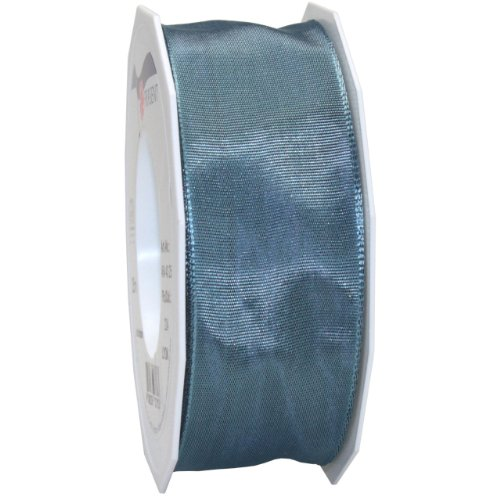 Morex Ribbon French Wired Lyon Fabric Ribbon, 1-1/2-Inch by 27-Yard, Williamsburg Blue