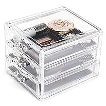Choice Fun Acrylic Handy 3 Drawers Makeup Jewelry Organizer