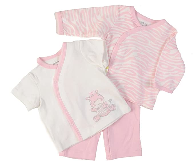 Amazon.com: Little Me Bebé Unisex 3 piezas Zebra: Clothing