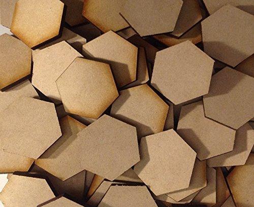 Memoir 44 Hex Tile Blanks 5 Pack Laser Cut MDF FAST SHIPPING ()