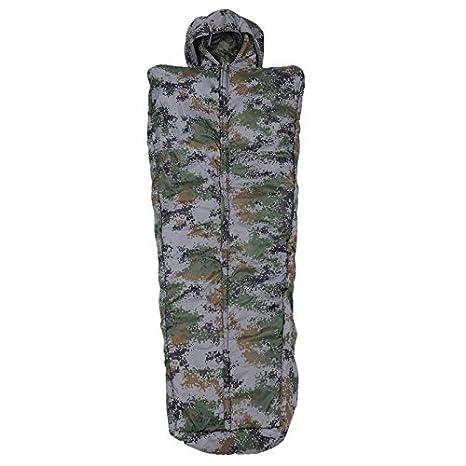 SUHAGN Saco de dormir Outdoor Camping Camping Bolsa De Dormir Travel Solo Saco De Dormir Sleeping Bag Zipper,Untar Tipo Camuflaje Digital: Amazon.es: ...
