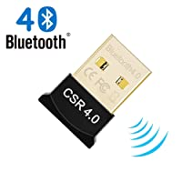 USB Bluetooth 4.0 Adapter USB2.0 Wireless Mini Adapter Dongle for PC,Stereo Music,VOIP, Keyboard, Mouse,Supports XP/Vista/Win7 (32 Bit)/Win8/Win10 and Other Mainstream Operating Systems