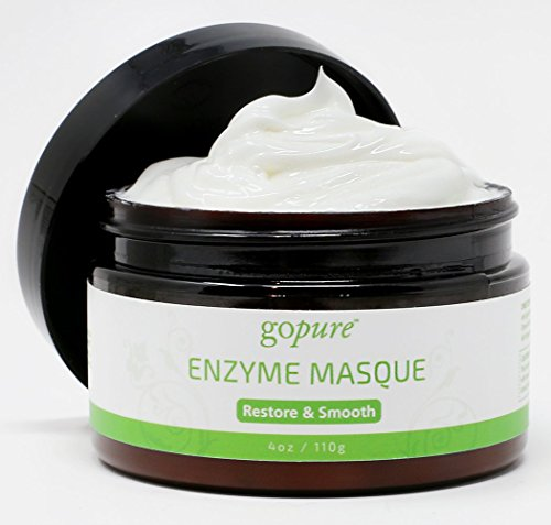 goPure Enzyme Facial Mask - Glycolic Acid Face Mask - Anti Aging and Hydrating Facial Mask - 4oz ()