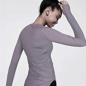 DAGUAISHOU Top Deportivo Camiseta de Yoga para Mujer Camisa ...