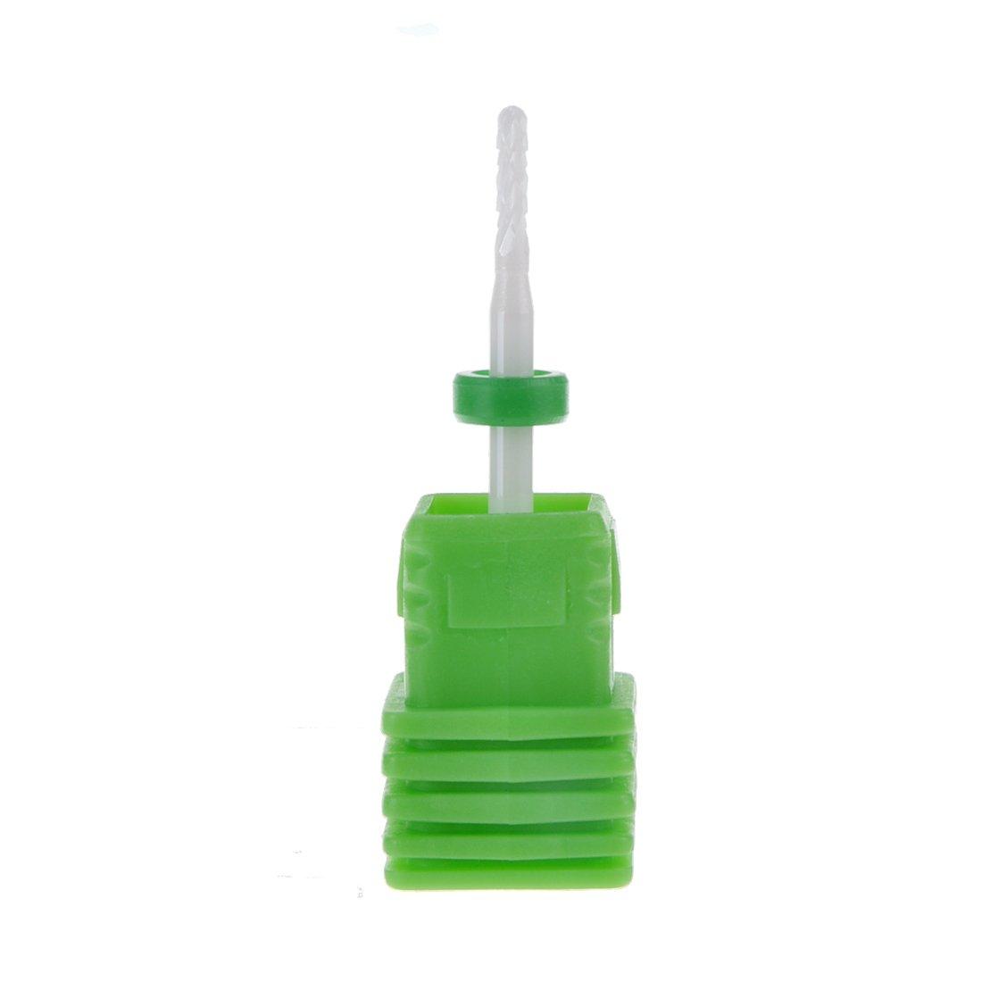 Biutee Ceramic Nail File Drill Bit Tools Cuticle Clean Gel Remove Nail Salon Use Medium Grit Nail drillNail file nail tool grinder head nail pottery 1.6mm*7mm (F)