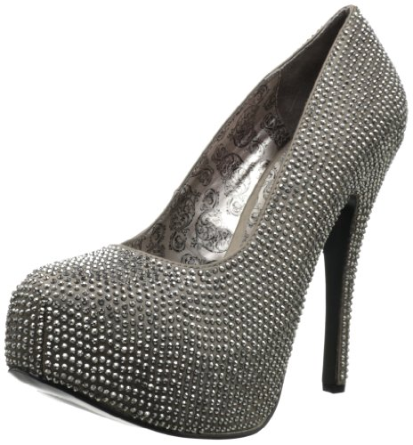 Femme Chaussures pewter Rs Satin Grey À Drk Talons Bordello qg6fP1qW