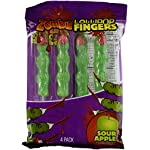 Halloween Zombie Fingers Sour Apple 4 Candy Lollipops (Pack of 3)