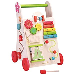 EverEarth Activity Walker. Toddler Learn-to-Walk Cart, Shape Sorter, Bead Maze, Xylophone & Gears