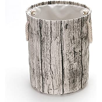 Amazon Com Hodleys Tree Stump Wood Grain Canvas Amp Linen Fabric Laundry Hamper Storage