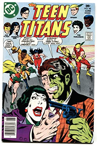 Teen Titans #48 DC comic-TWO-FACE HARLEQUIN Cover- Bronze Age VF/NM