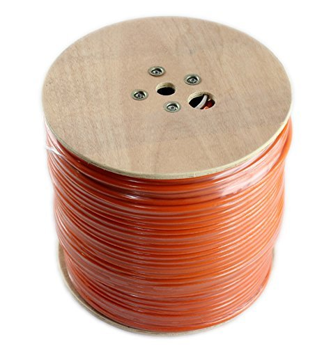 RG11 Coaxial Cable roll of Tri-Shield Underground Drop Direct Burial Flooded Coax Digital Cabling with Gel (Indoor/Outdoor) 500' or 1000' Bulk Wire/by CableProof (1000 FT, Orange)