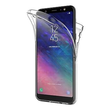 AICEK Funda Samsung Galaxy A6 Plus 2018, Transparente Silicona 360°Full Body Fundas para Samsung A6 Plus 2018 Carcasa Silicona Funda Case (6,0 ...