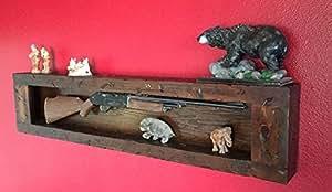 Amazon Com Wall Gun Display Rack Case Gun Cabinet Wall