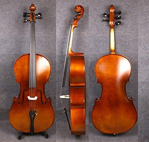 yinfente 4/4acústica 5cuerdas para violonchelo de madera de arce de abeto modelo libre para violonchelo bolsa dulce sonido