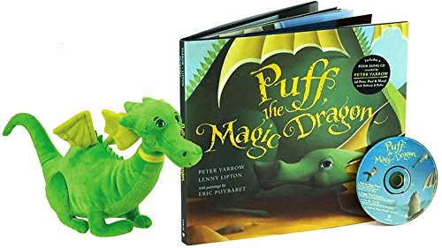 - Puff, the Magic Dragon Hardcover Book with CD (4 songs) & Plush Toy Gift Set