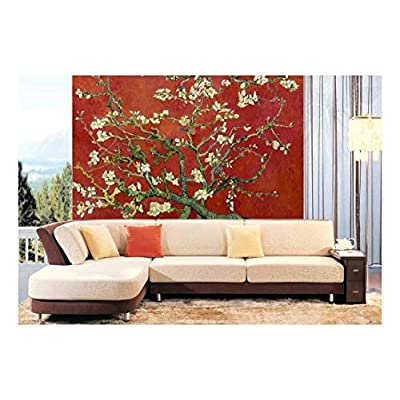 Red Almond Blossom by Vincent Van Gogh - Wall Mural, Removable Sticker, Home Decor - 100x144 inches