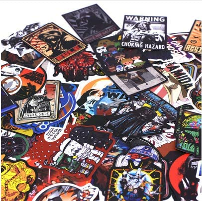 100Pcs / Pack Cool Stickers para El Equipaje Laptop Decal ...