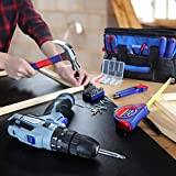 WORKPRO 12V Cordless Drill and Home Tool Kit, 177