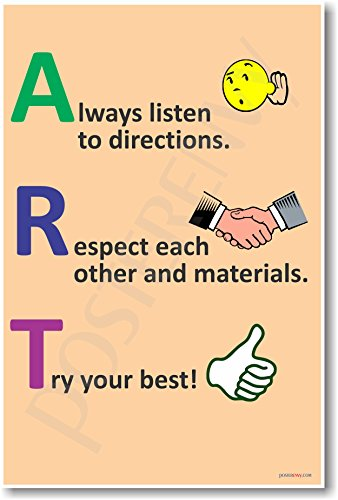 ART - Always Listen, Respect, Try - NEW Classroom Motivational Poster