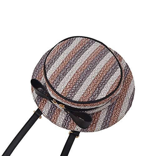 Bolso bandolera de las mujeres, bolsos redondos de la forma del sombrero del viaje para las compras del ocio, bolso del...