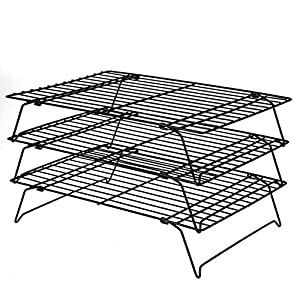 Daixers 3-Tier Stackable Cooling Rack,Baking Racks 13.5x 9.5 Inch by epic Daixers
