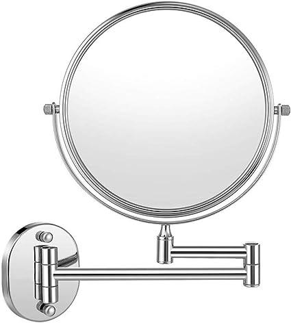 Haude Miroir de salle de bain double face extensible 20,3 cm Noir