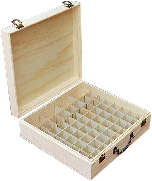 Apilable Caja de Aceite Esencial Caja de Almacenamiento de Madera ...