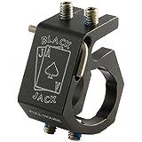 Blackjack BJ-Full House Firefighter Helmet Aluminum Flashlight Holder, Black