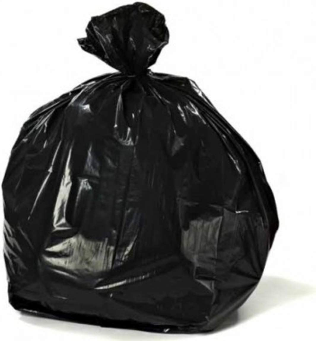 "Plasticplace 12-16 Gallon Trash Bags │ 1.0 Mil │ Black Tall Garbage Can Liners │ 24"" x 31"" (250 Case)"