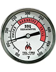 Tel-Tru 351U04FBAKLAAAA BQ300 100-500F Barbecue Thermometer - Glow Dial with 4 Inch Stem