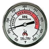 Tel-Tru BQ300 Barbecue Thermometer, 3 inch aluminum zoned dial, 2.5 inch stem, 100/500 degrees F