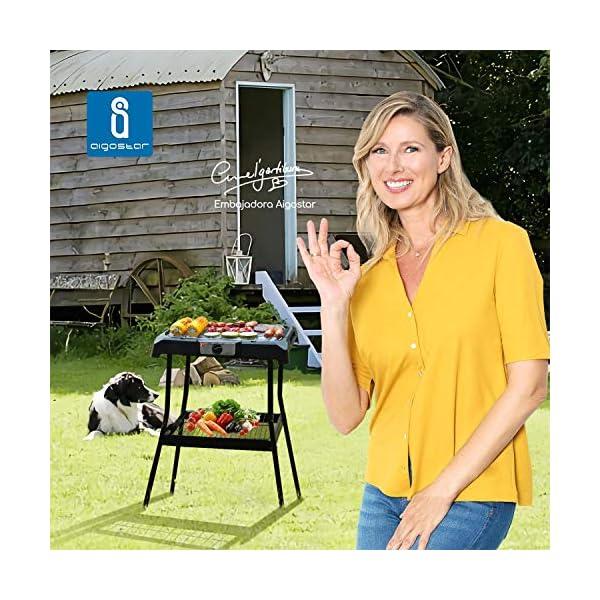Aigostar Lava Pro - Griglia senza fumo, griglia per barbecue elettrica con piedini e tavolo da esterno. Antiaderente con… 2