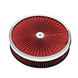 "9""x 3"" Chrome Breather Washable Air Filter Cleaner Reusable Oiled for Ford SBC BBC"