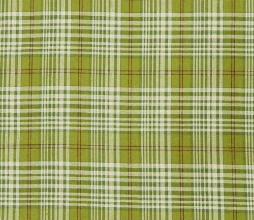 Holly Red Green Plaid Queen Dust Ruffle by April Cornell by Aprill Cornell