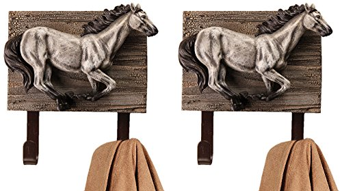 Bag Manual Woodworkers - Manual Horsing Around Horse Plaque Wood Metal Wall Mounted Towel Hat Coat Hooks IMWHHA Set of 2